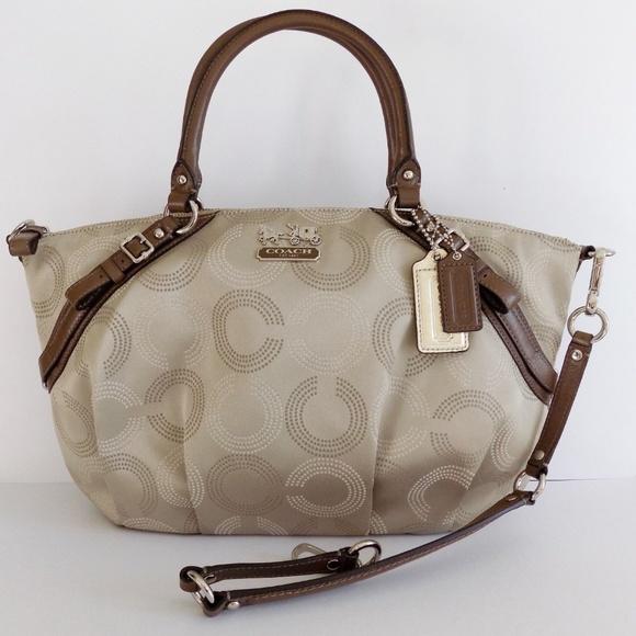 Coach Handbags - Coach Madison Dotted Op Art Sophia Satchel